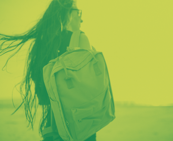 Summer Students Green Backpack