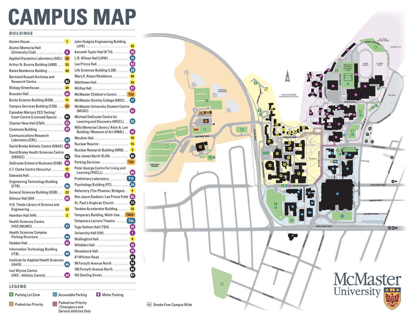 preview of campus map